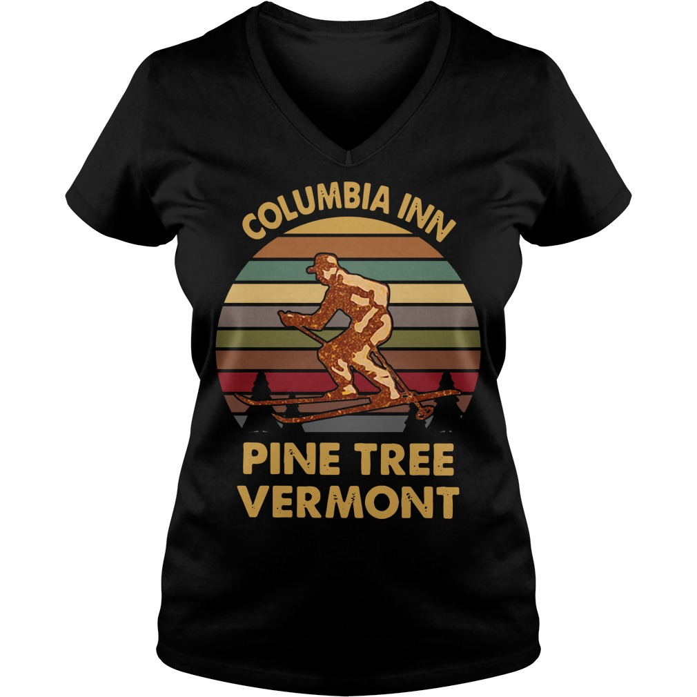 Columbia inn pine tree Vermont vintage V-neck T-shirt