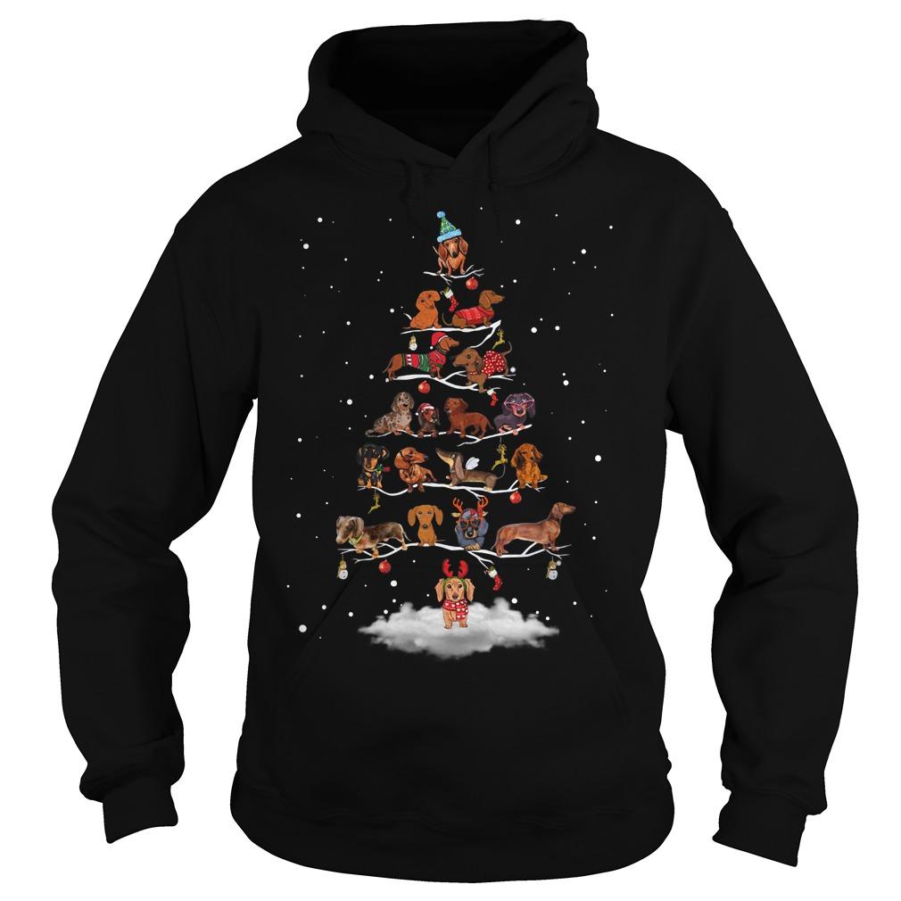 Dachshund Christmas tree Hoodie