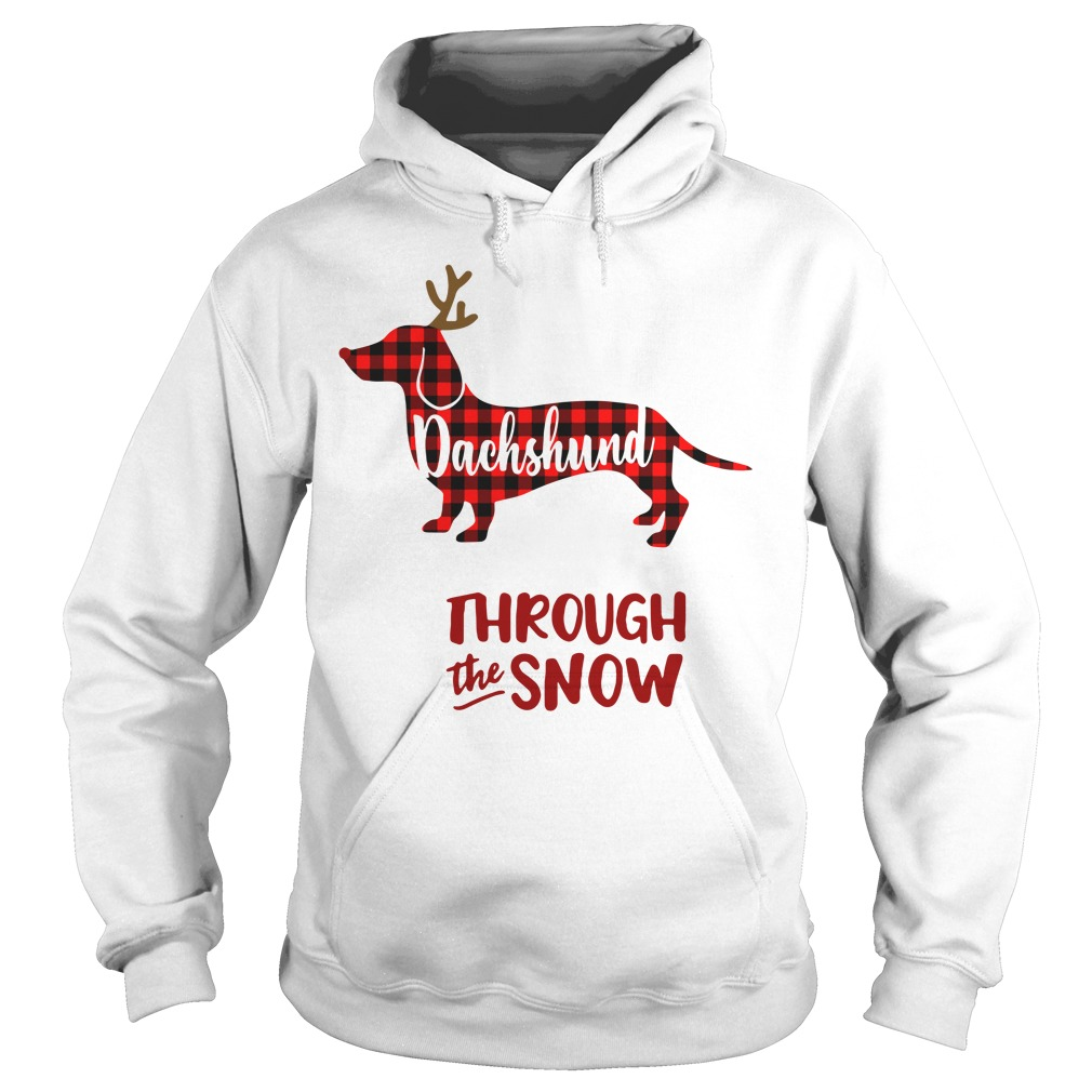 Dachshund through the snow Christmas Hoodie