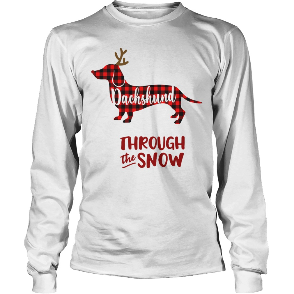 Dachshund through the snow Christmas Longsleeve tee