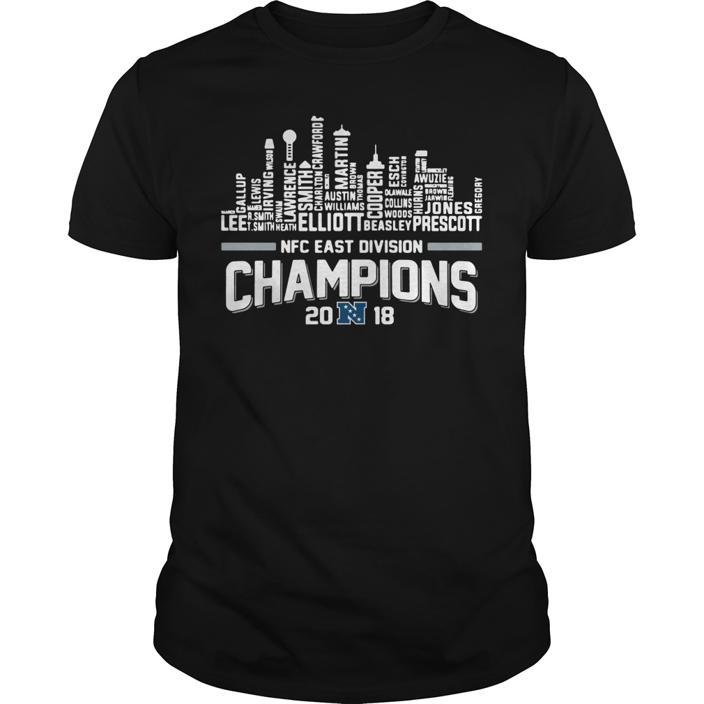 Dallas Cowboys NFC East division champions 2018 Guys Shirt