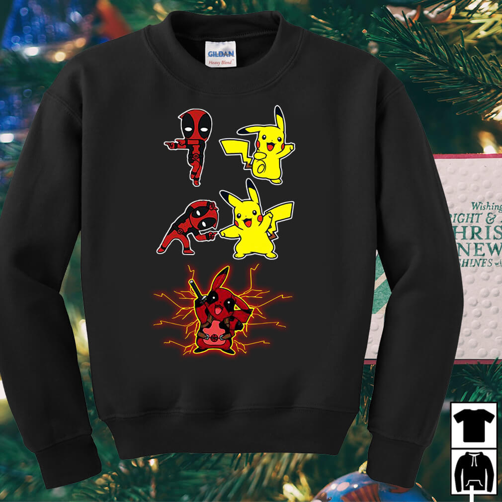 Deadpool and Pikachu fusion dance Pikapool shirt