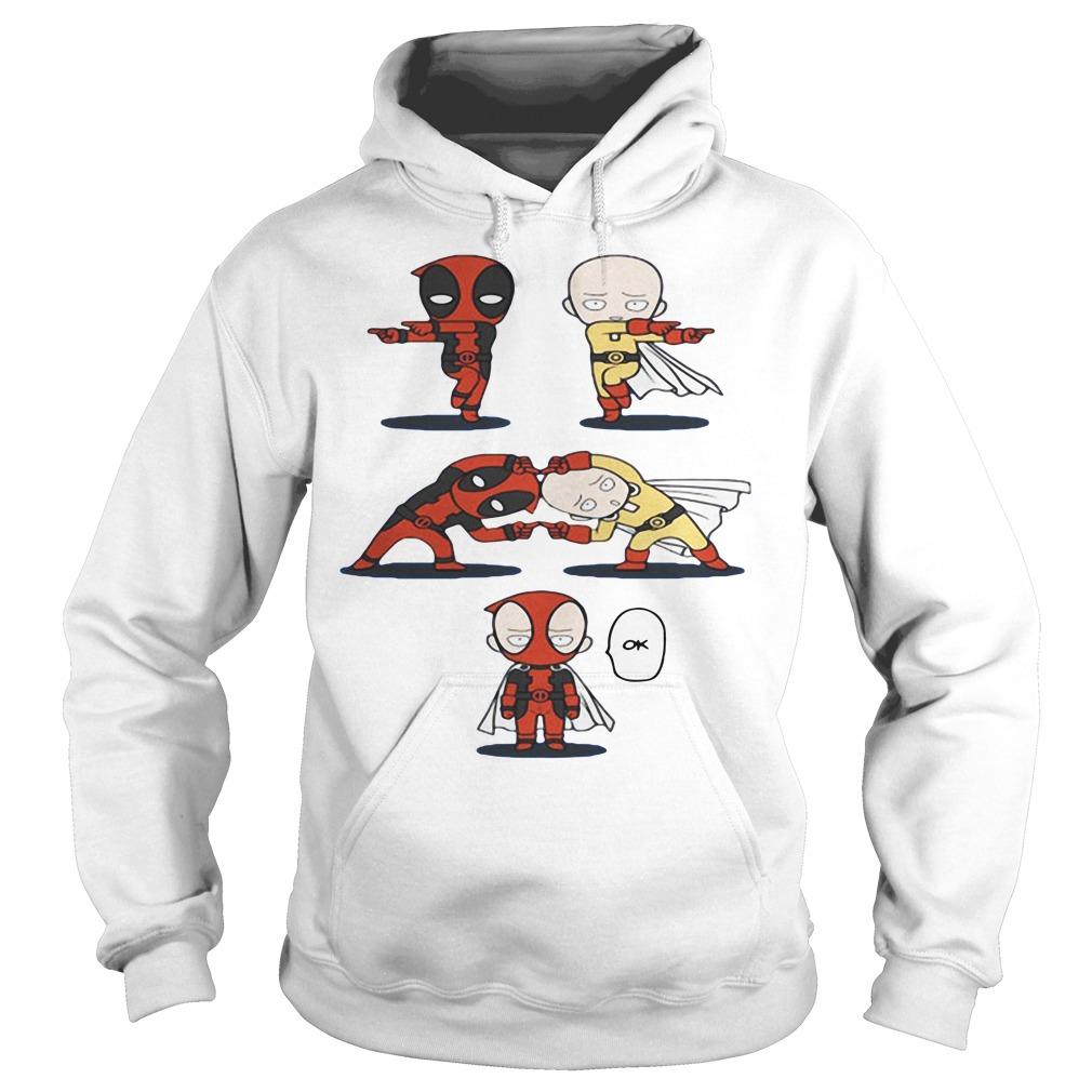 Deadpool and Saitama fusion dance One Punch Man Hoodie