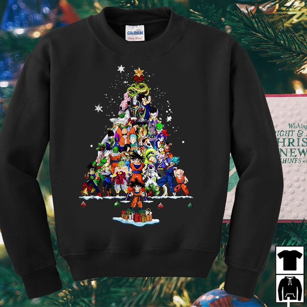 Dragon Ball all characters Christmas tree sweater