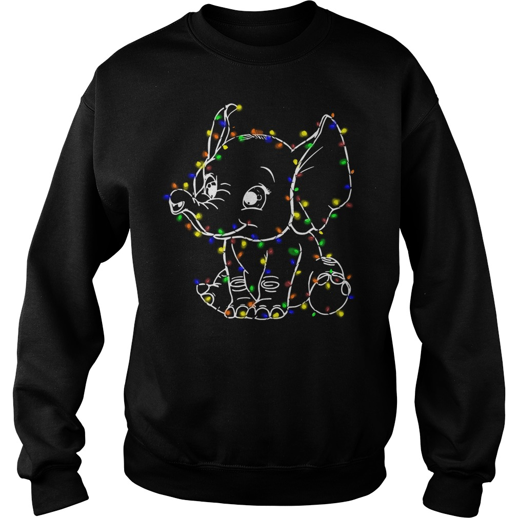 Elephant light merry Christmas Sweater