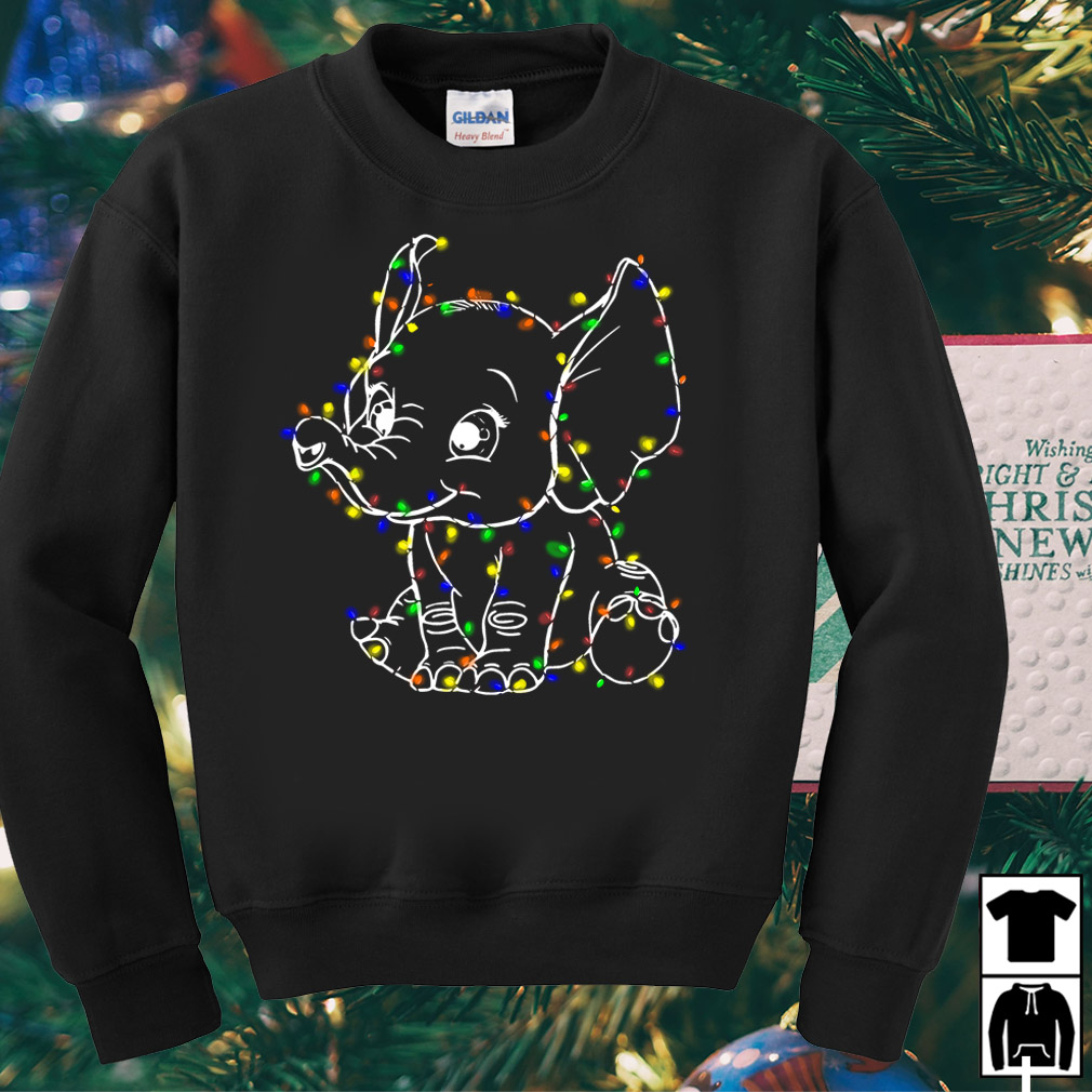 Elephant light merry Christmas sweater
