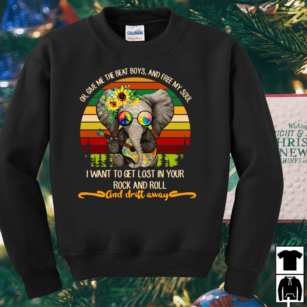 Elephant oh give me the beat boys and free my soul vintage shirt
