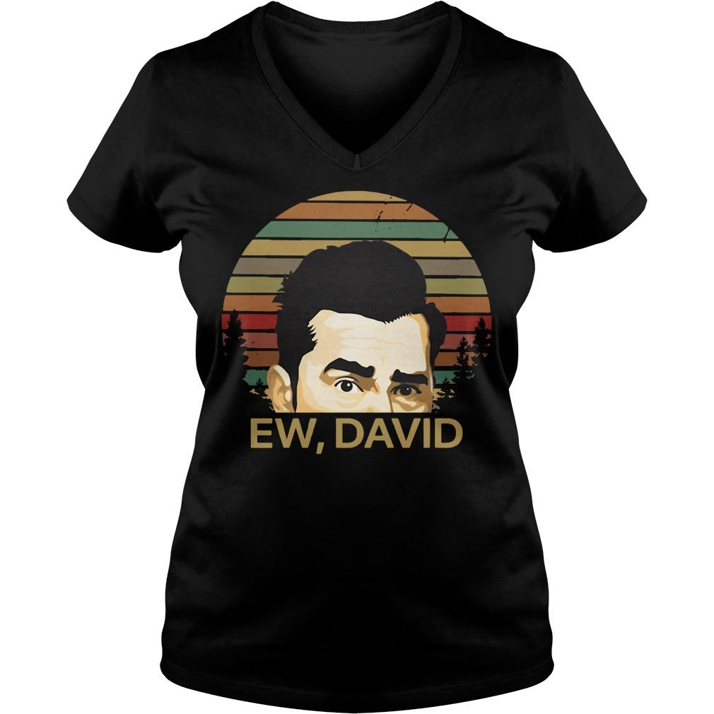Ew David Schitts Creek vintage V-neck T-shirt