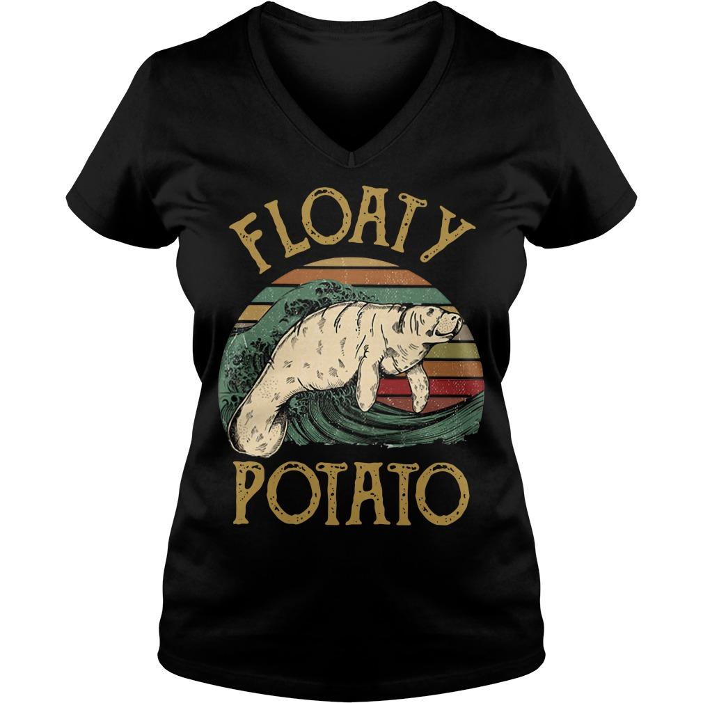 Floaty potato surf vintage V-neck T-shirt