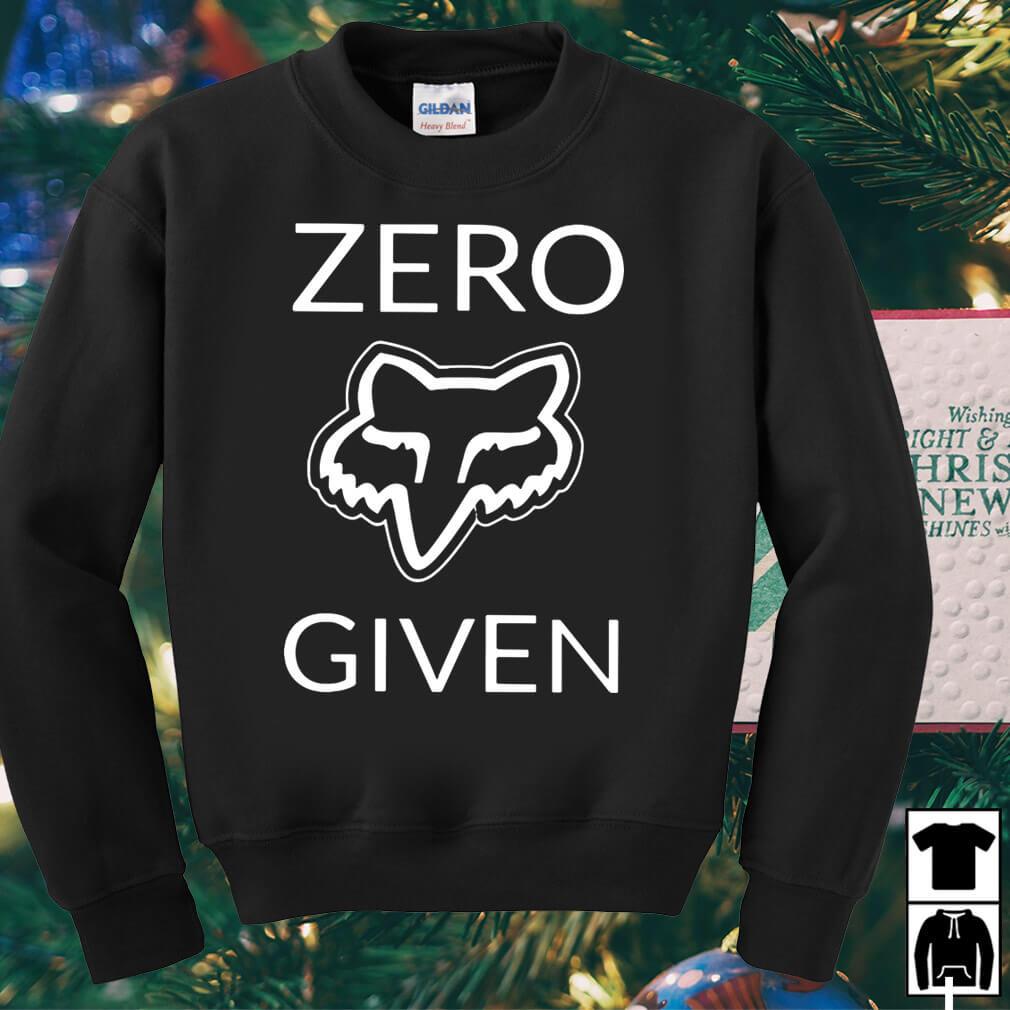 Fox Aufkleber zero given shirt