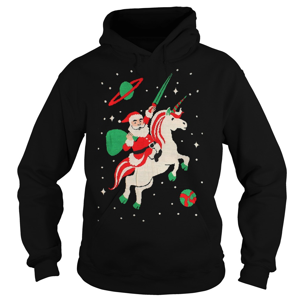 Fresh Bargains on Kids Santa riding Unicorn Hoodie