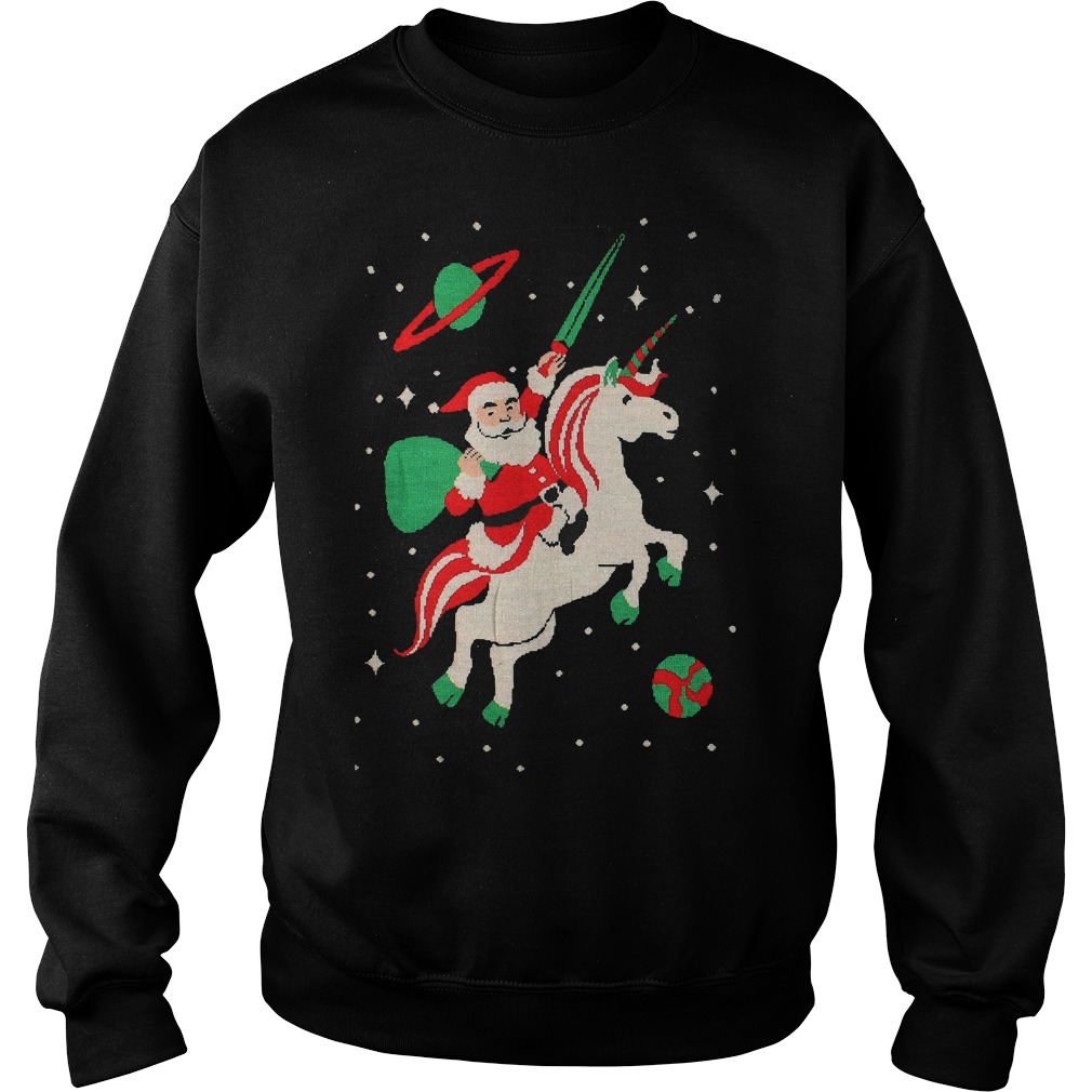 Fresh Bargains on Kids Santa riding Unicorn Sweater