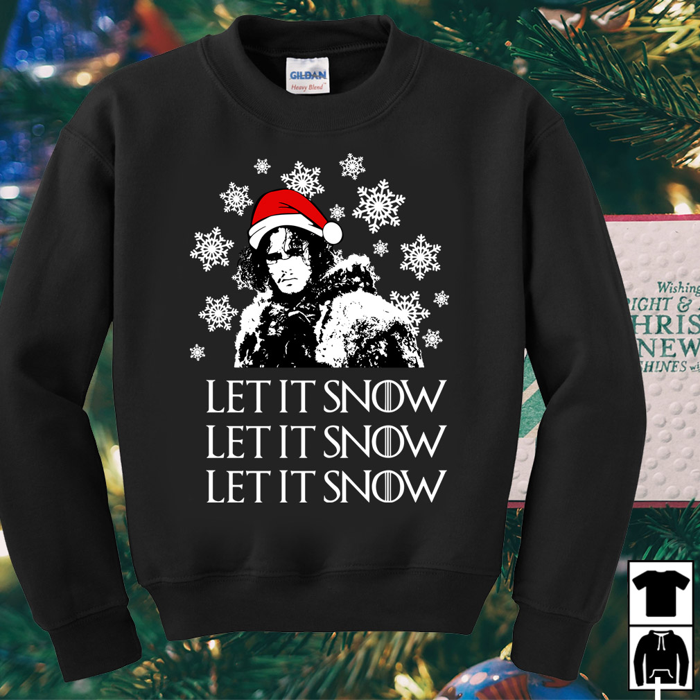 Game of Thrones Jon Snow let it Snow Christmas sweater