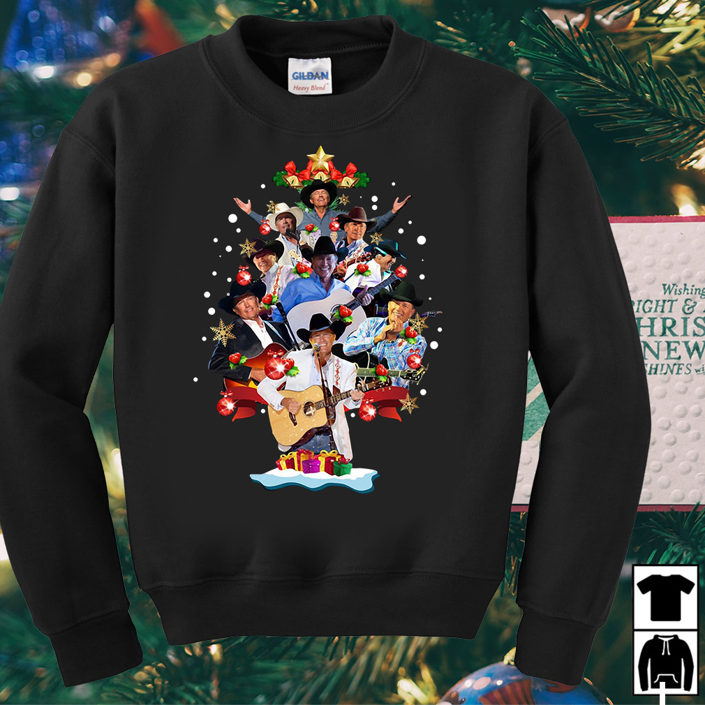 George Strait Tree Christmas Ugly sweater