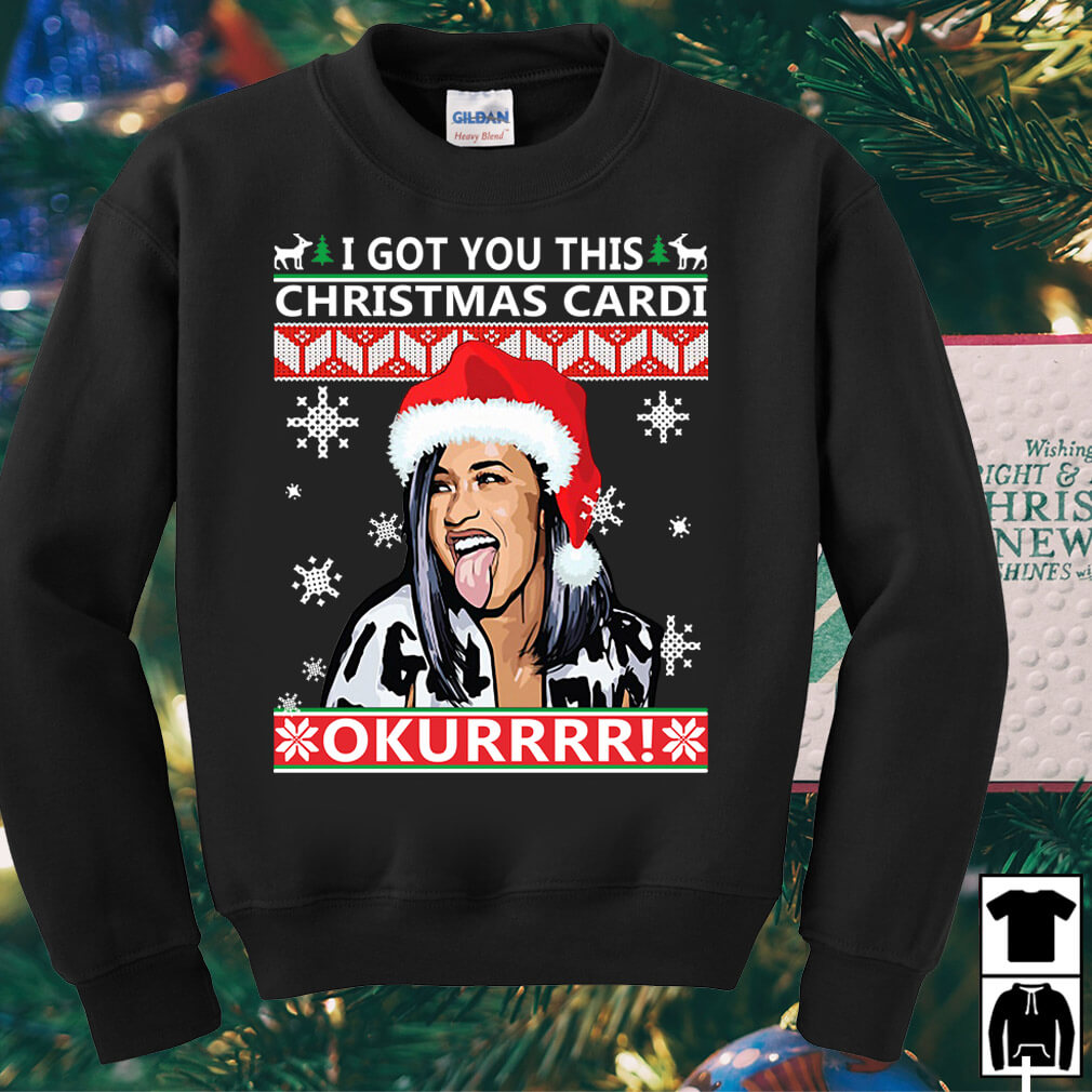 I got you this Christmas Cardi Okurrr sweater