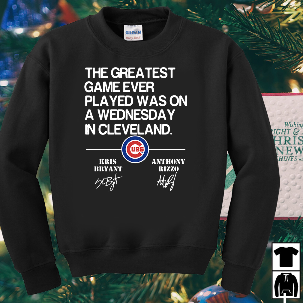 The greatest game ever played was on a Wednesday in Cleveland Kris Bryant shirt