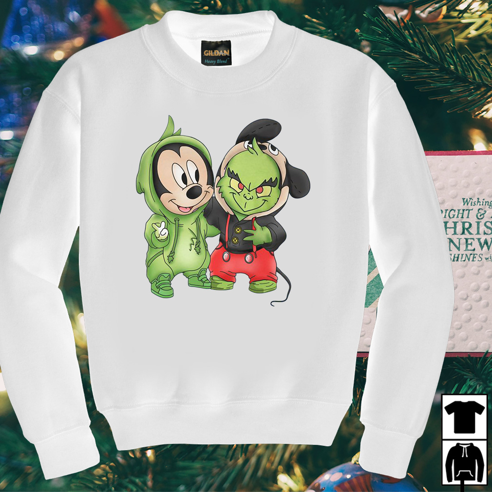 Grinch and Mickey are best friends shirt