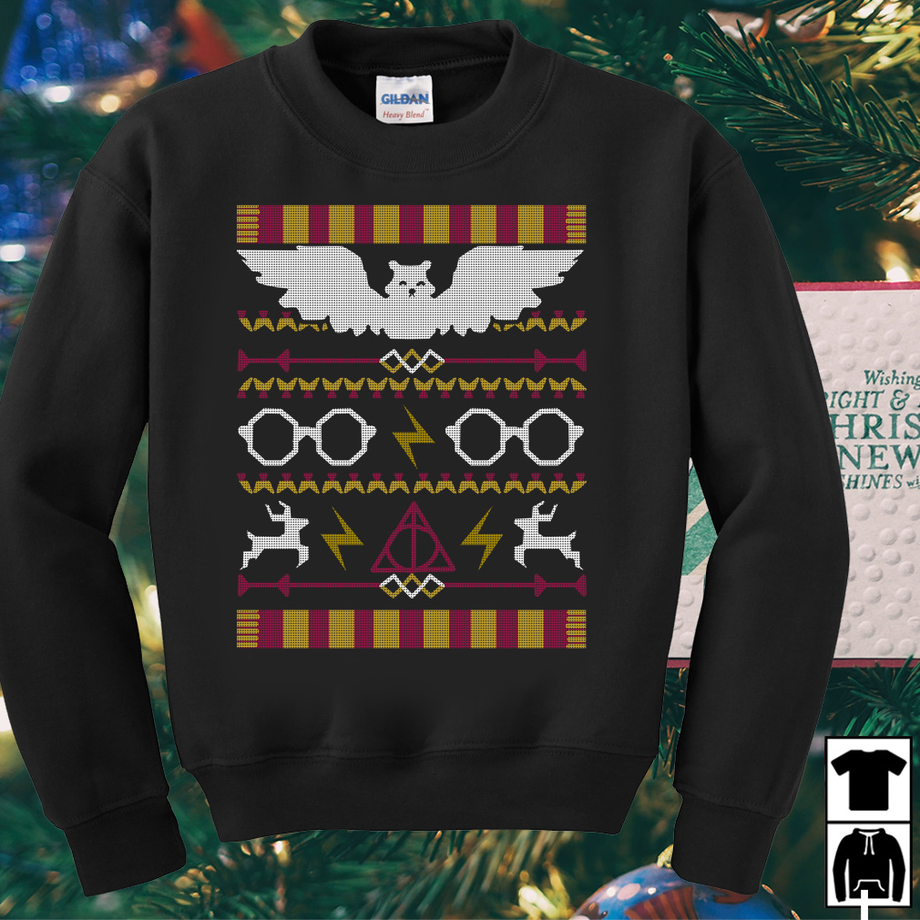 Harry Potter Fawkes Gryffindor ugly Christmas sweater