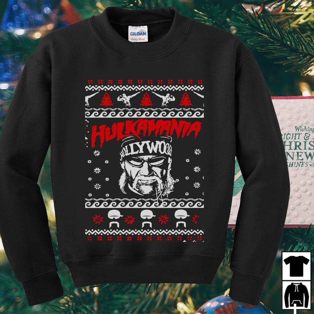 Hulk Hogan Hulkamania ugly Christmas sweater