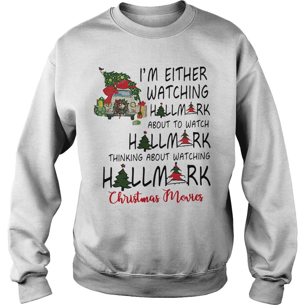 I'm either watching hallmark about to watch hallmark Sweater