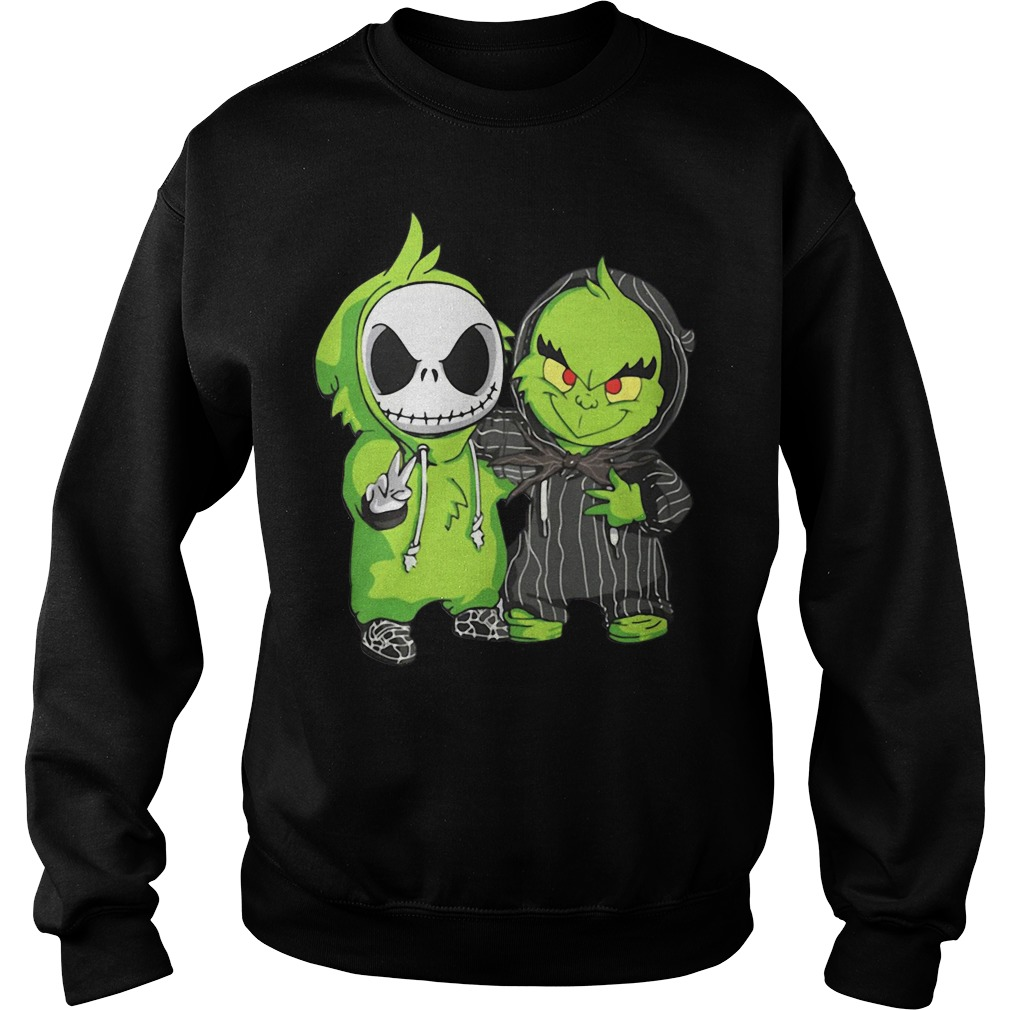 Jack Skellington and Grinch we are best friends Sweater