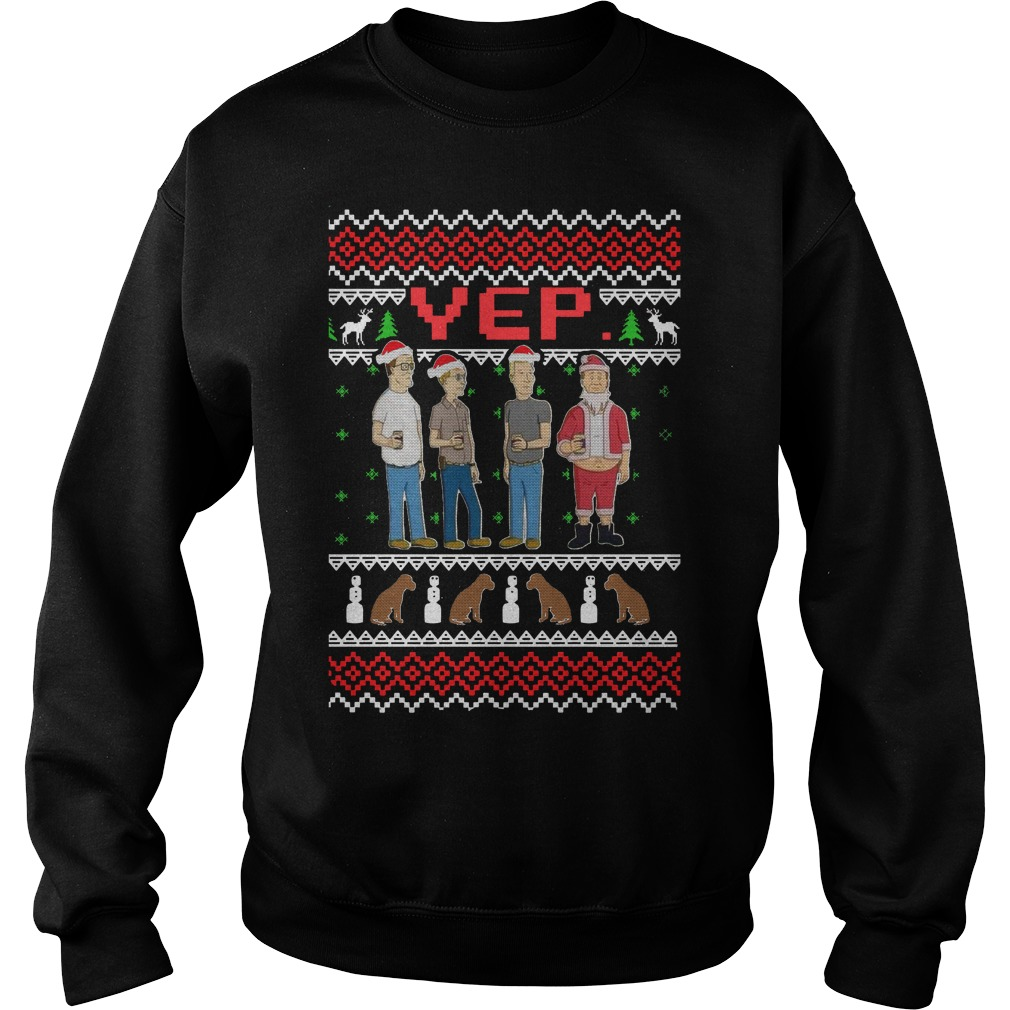 King of the Hill Knitting Pattern all over Christmas Sweater