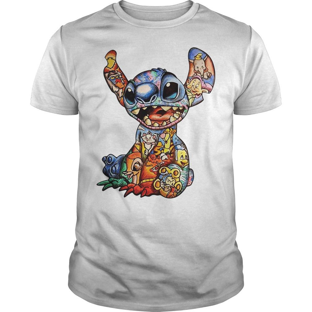 Lilo and Stitch Disney Characters Cross Stitch Pattern Guys Shirt