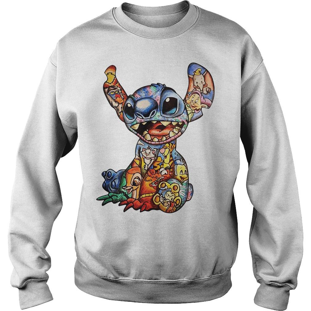Lilo and Stitch Disney Characters Cross Stitch Pattern Sweater