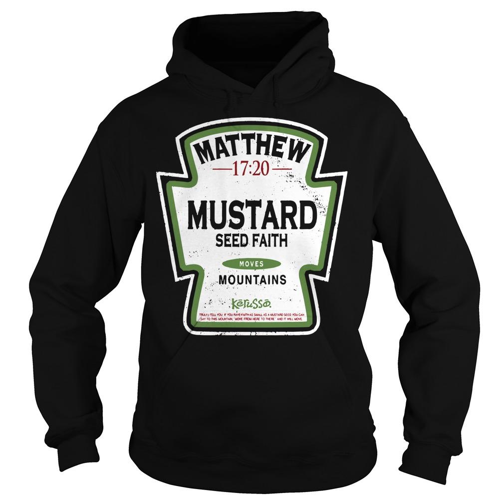 Matthew mustard seed faith mountains Hoodie