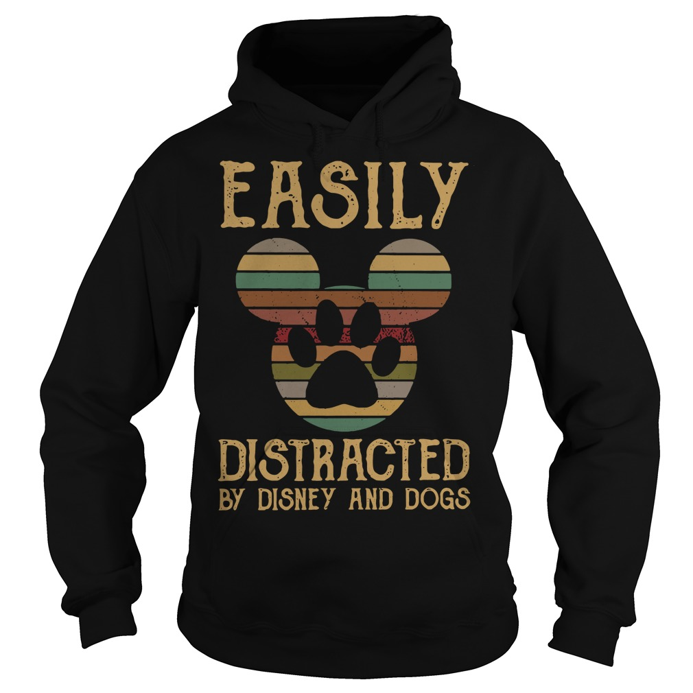 Mickey easily distracted by disney and dogs Hoodie
