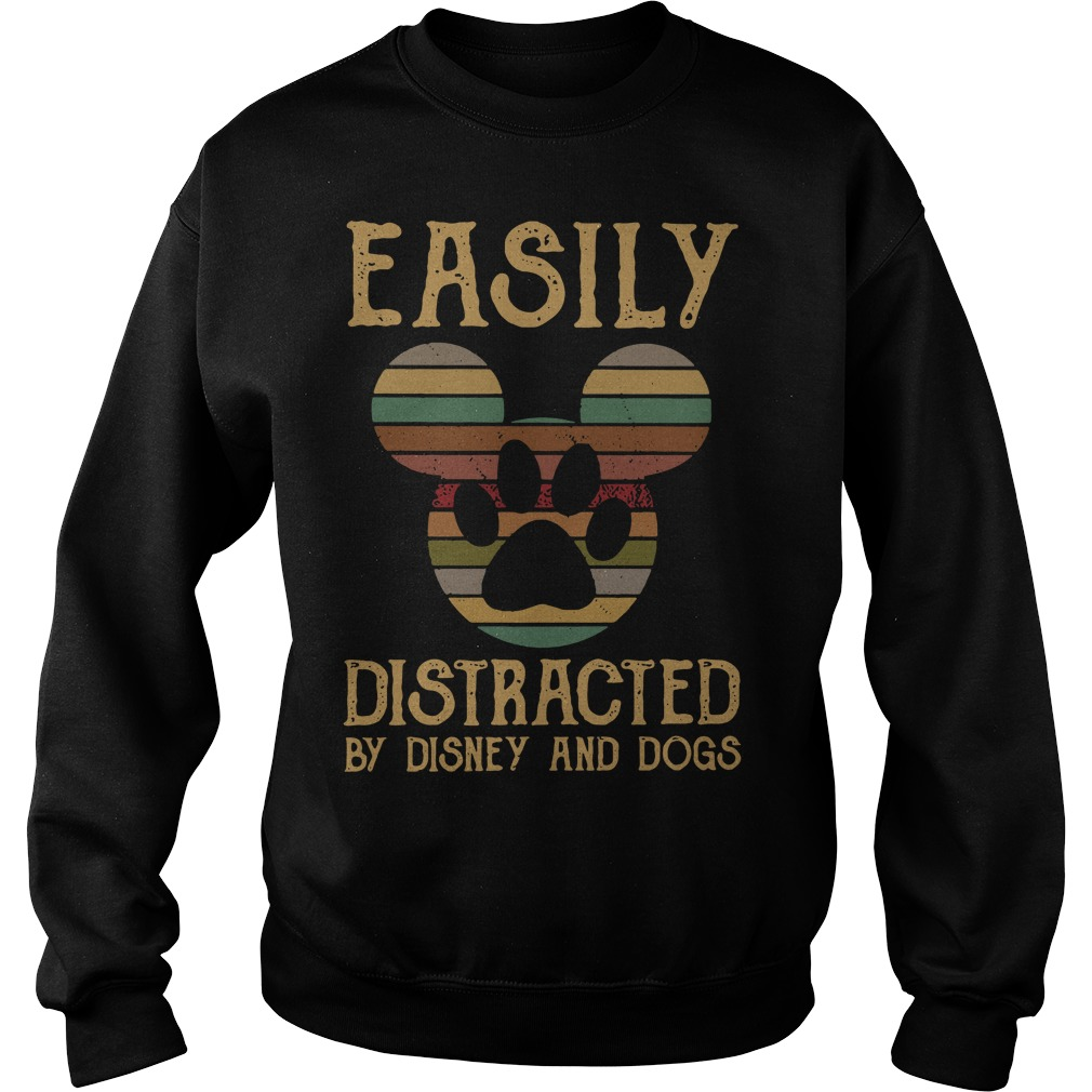 Mickey easily distracted by disney and dogs Sweater