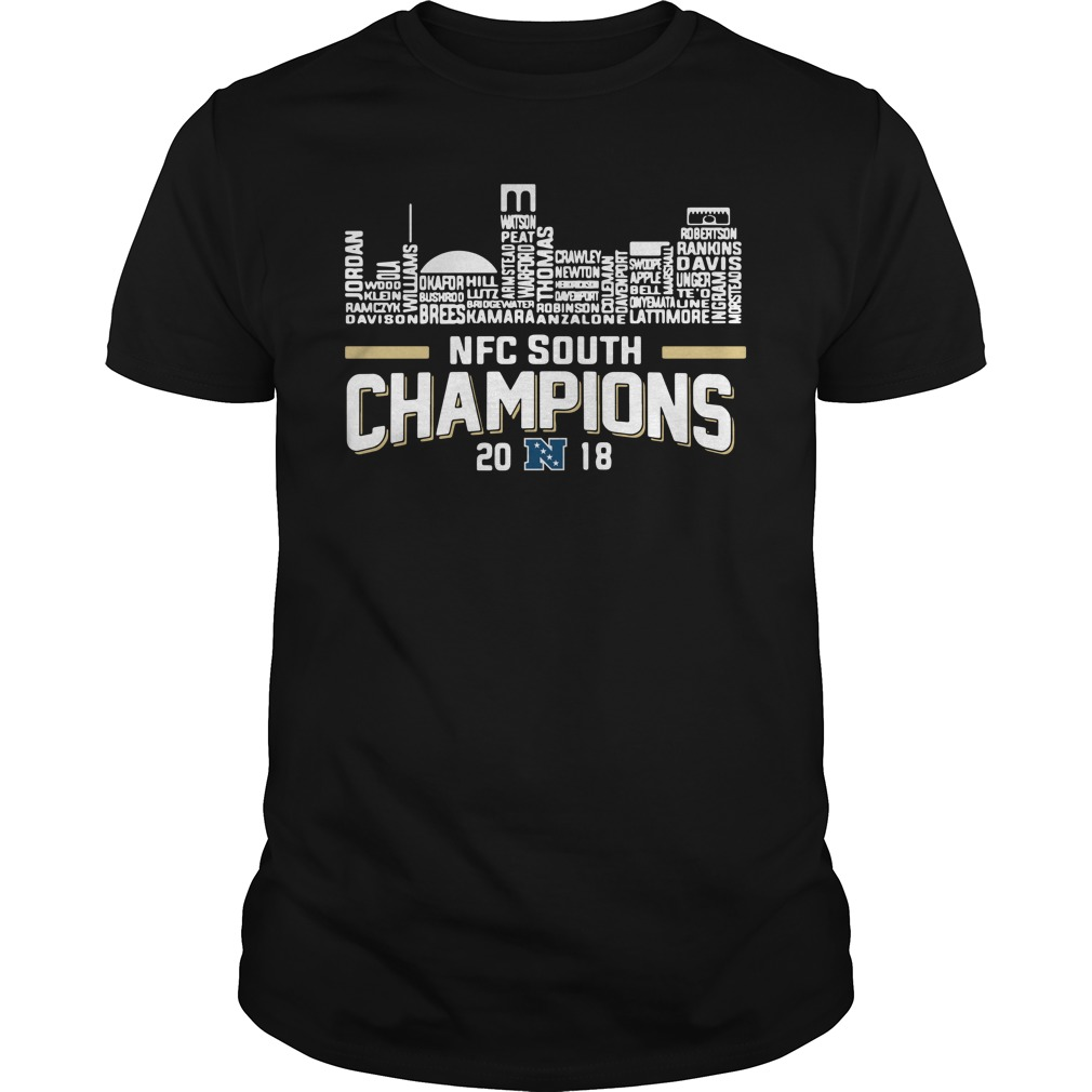 New Orleans Saints NFC south champions 2018 Guys Shirt
