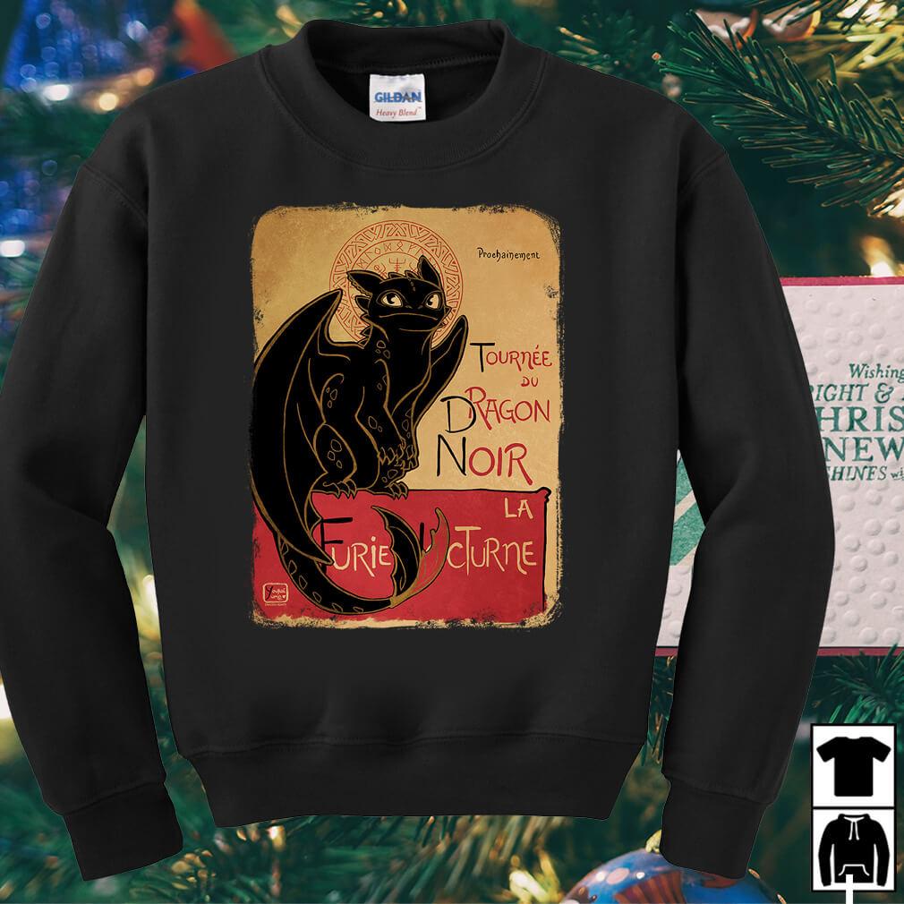 Night fury tournee du dragon noir shirt