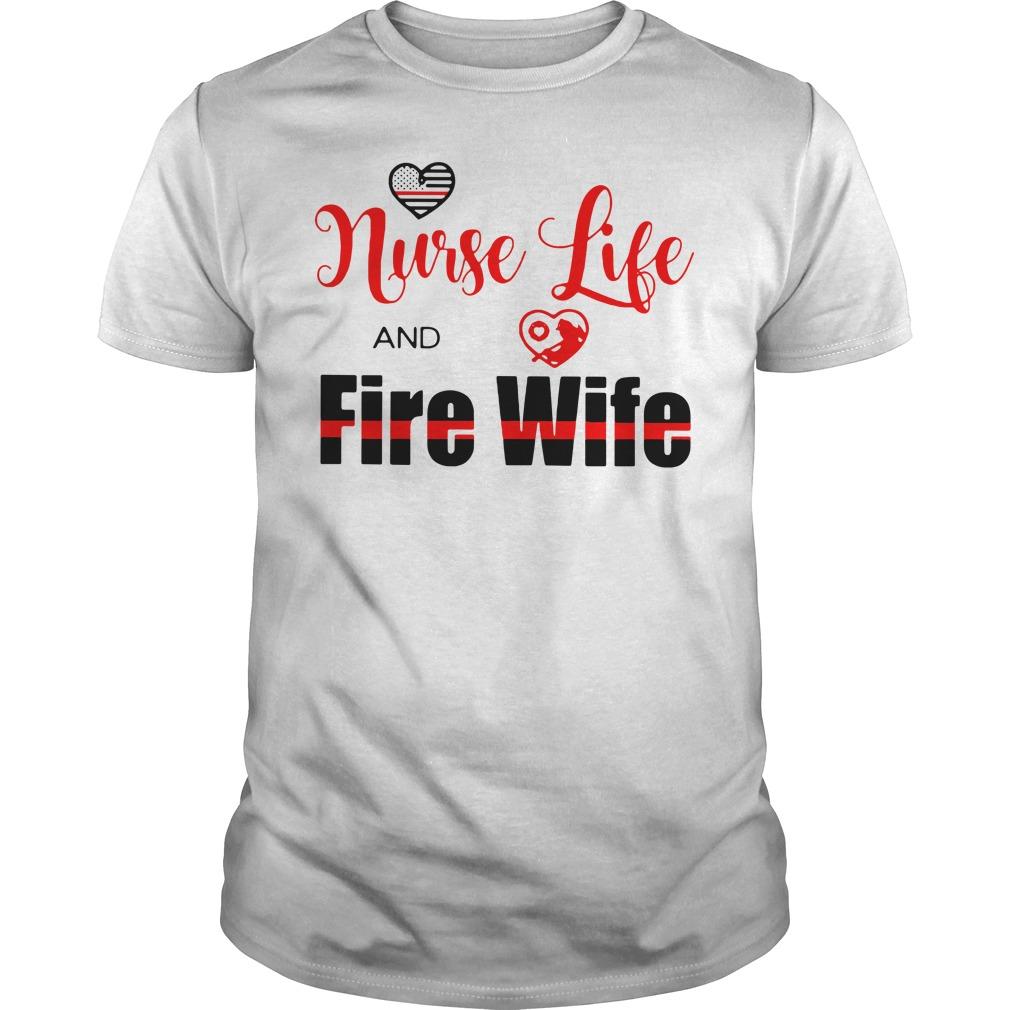 Nurse life fire wife Guys Shirt