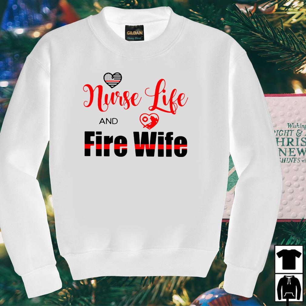 Nurse life fire wife shirt