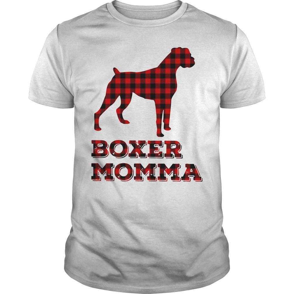 Official Boxer momma Guys Shirt