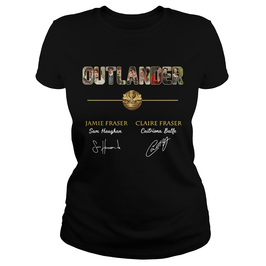 Outlander Jamie Fraser and Claire Fraser Ladies Tee