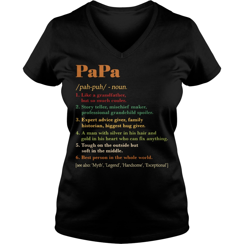 Papa definition meaning V-neck T-shirt