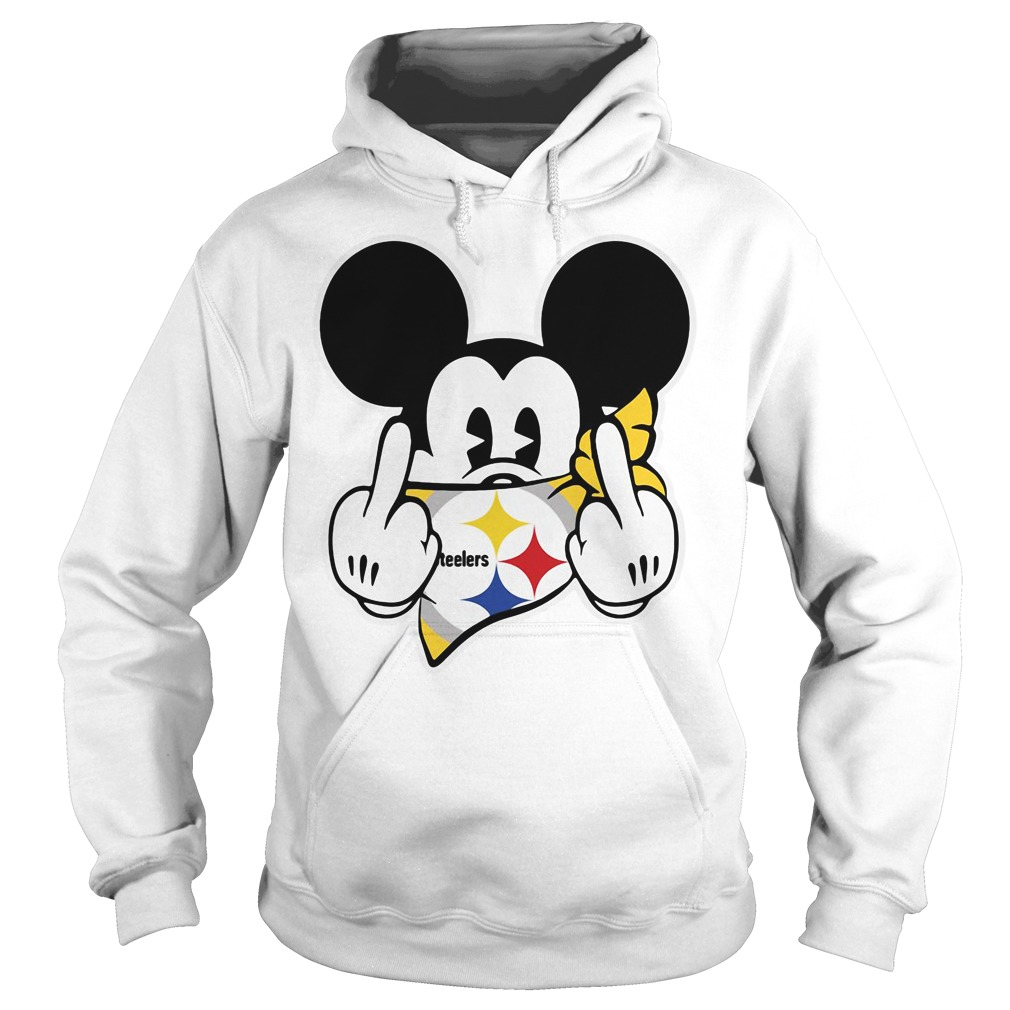 Pittsburgh Steelers Mickey Mouse fuck Hoodie