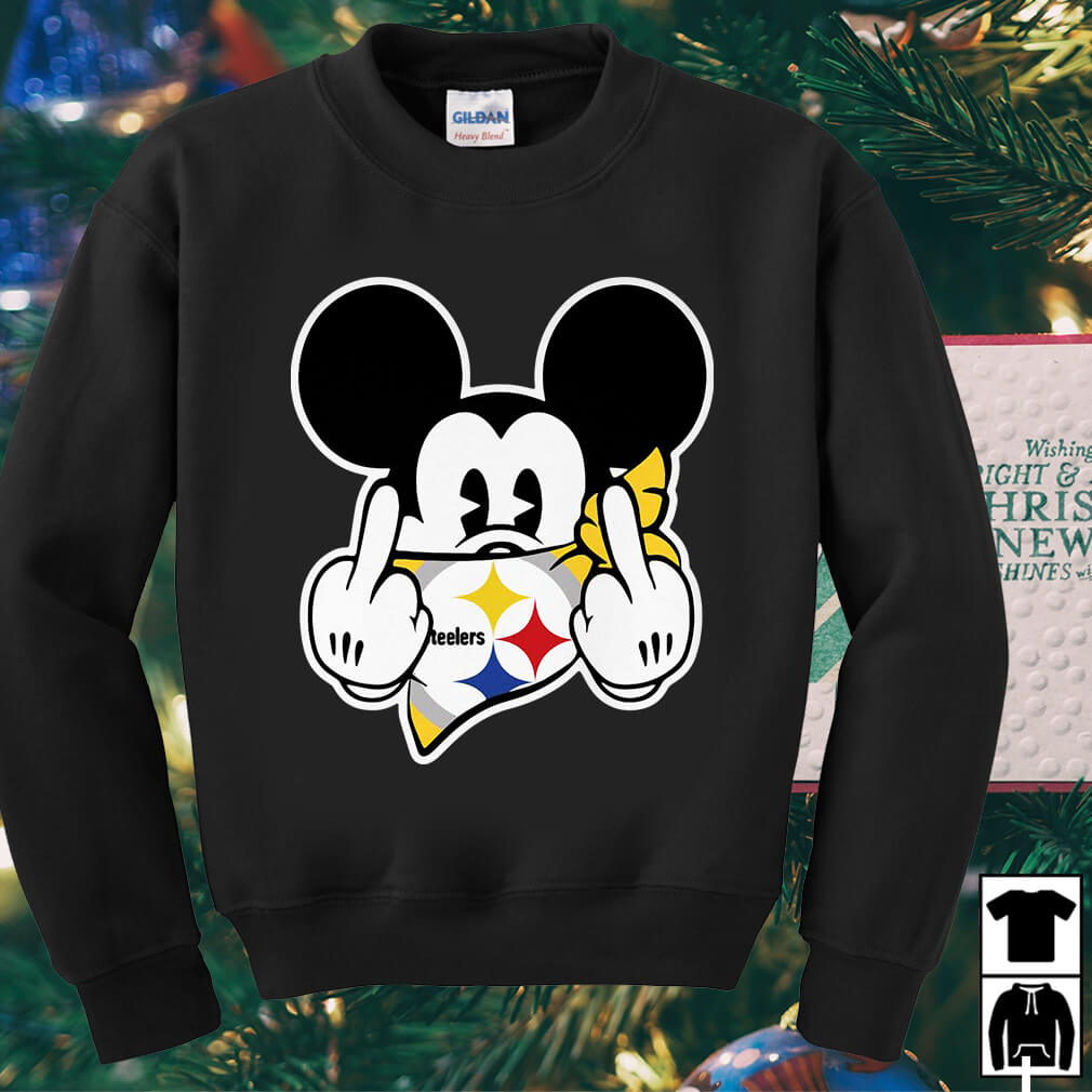 Pittsburgh Steelers Mickey Mouse fuck shirt