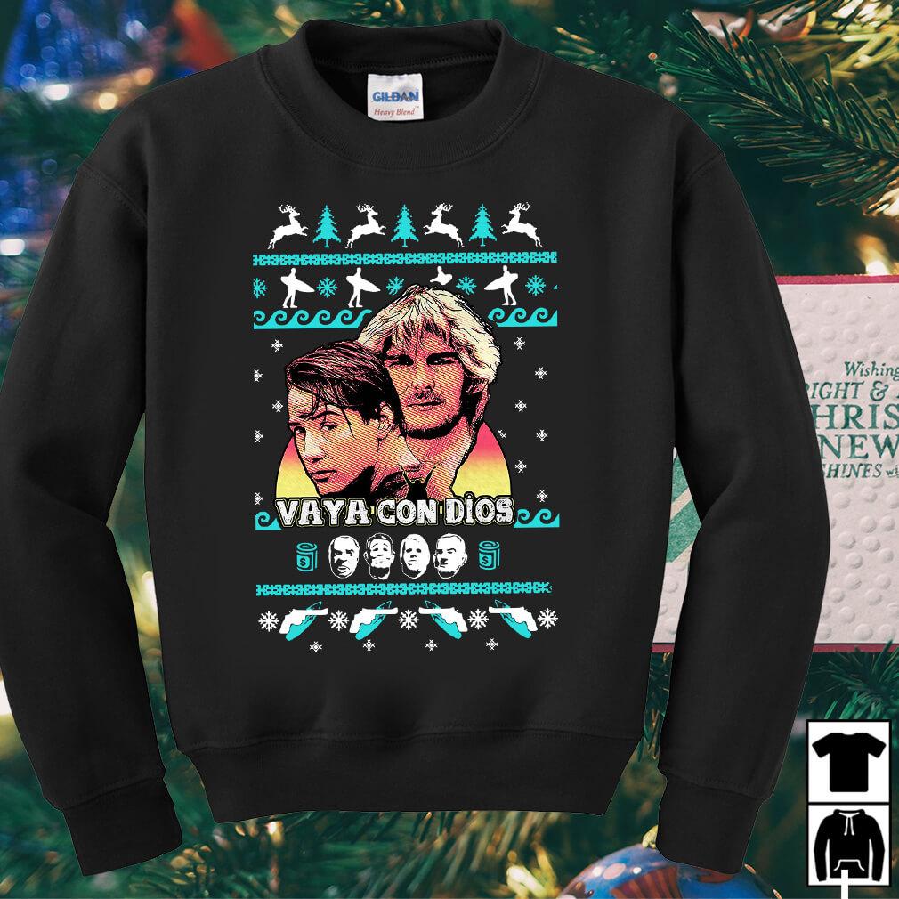 Point Break Vaya Con Dios Christmas sweater