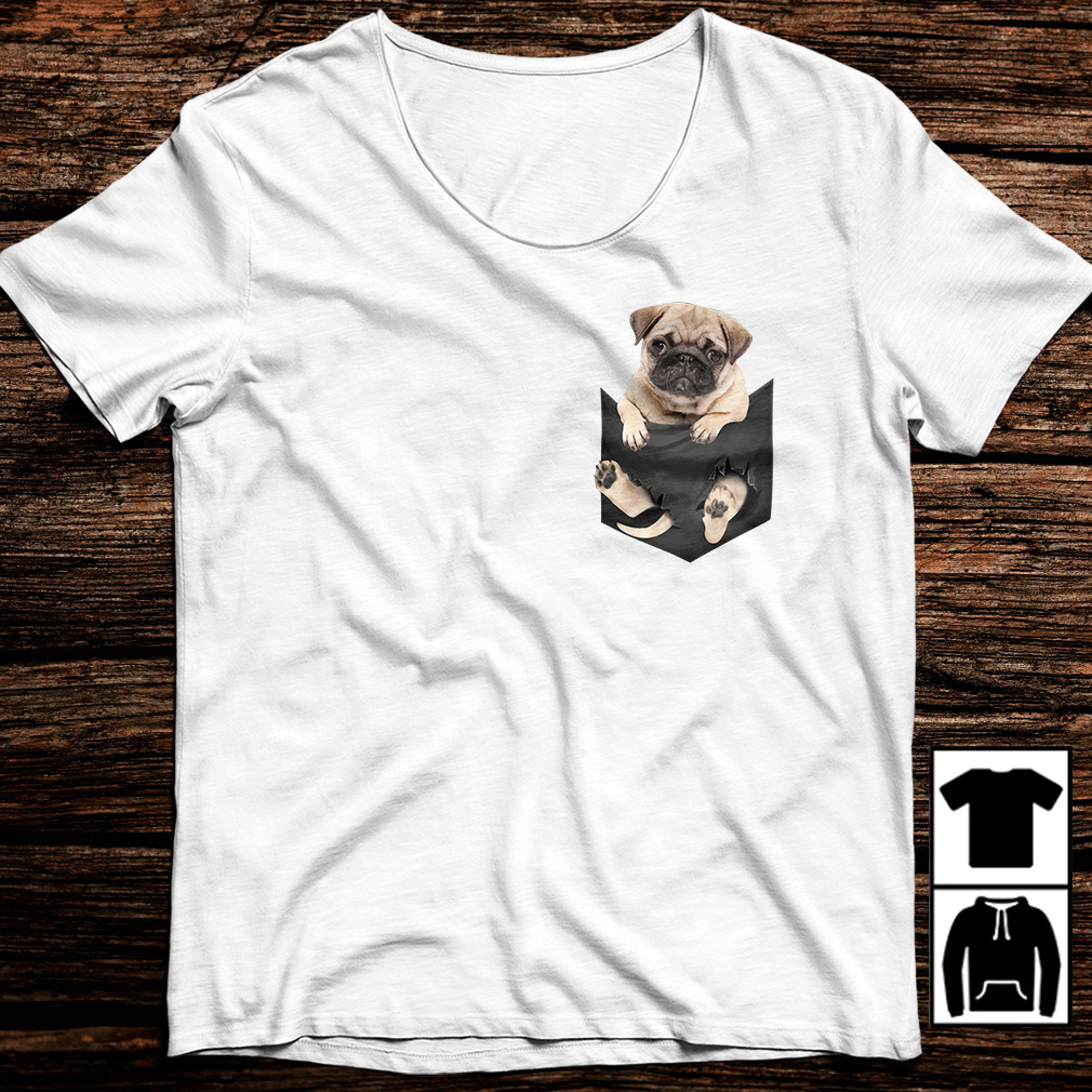Pug in a pocket shirt