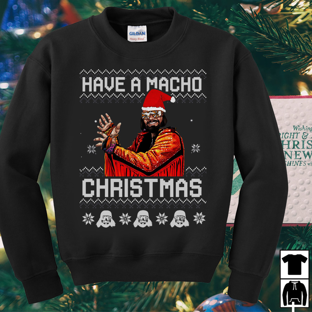 Randy Savage Have a macho Christmas ugly sweater