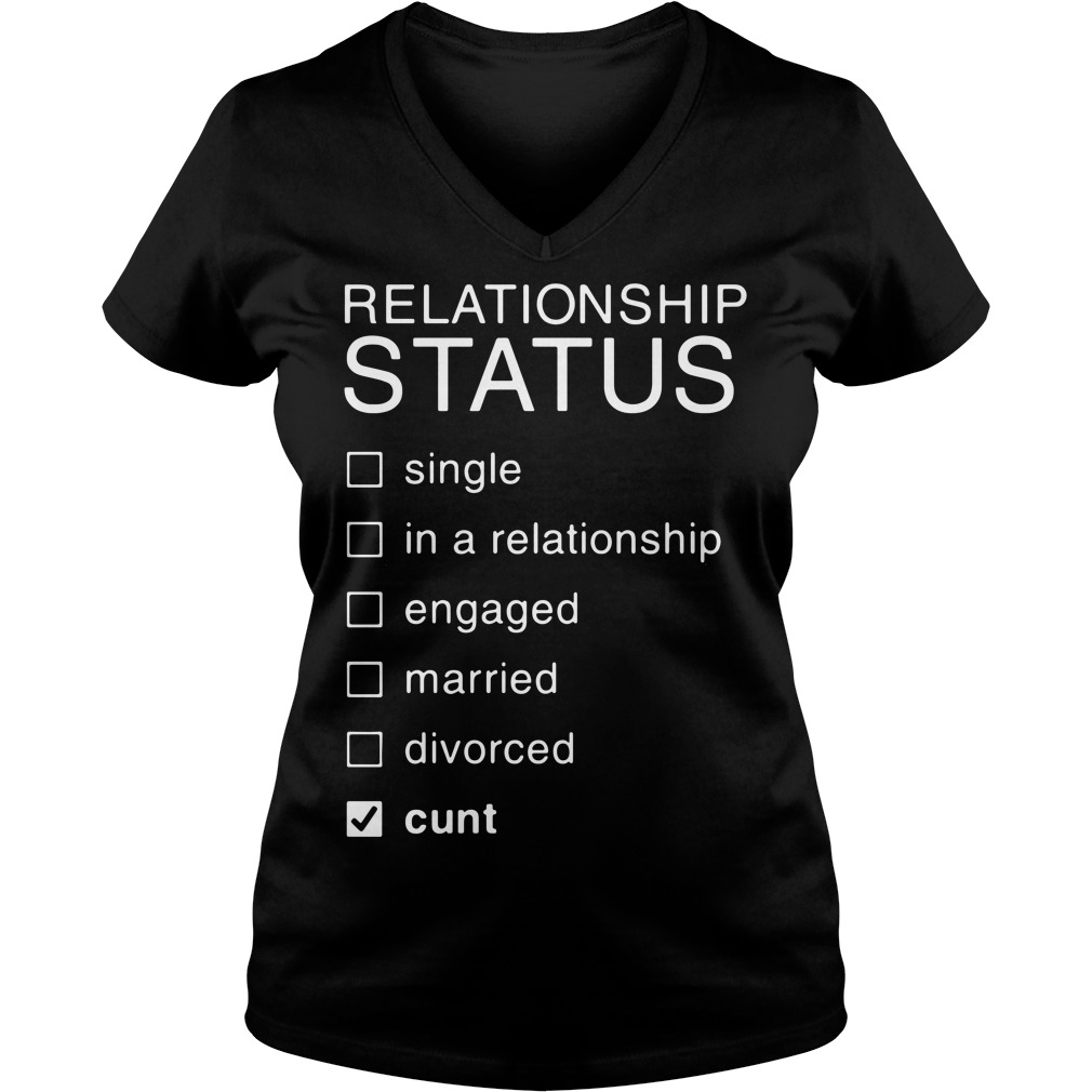 Relationship Status single in a relationship engaged married divorced V-neck T-shirt