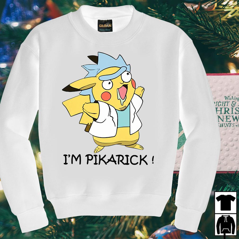 Rick and Pikachu I'm Pikarick shirt