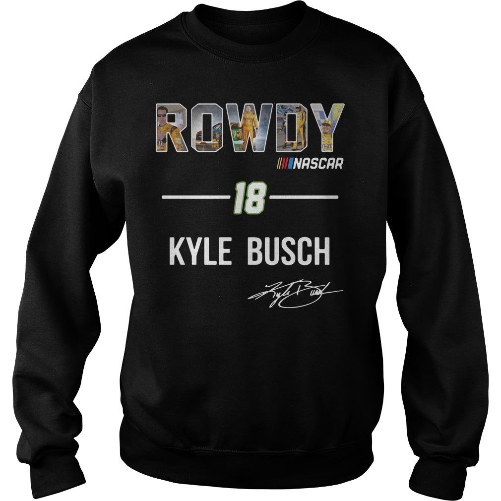 Rowdy Nascar 18 Kyle Busch signature Sweater