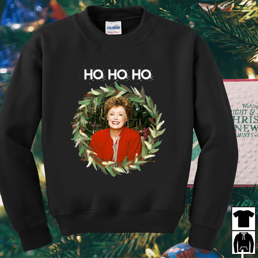 Rue McClanahan Ho Ho Ho Christmas sweater