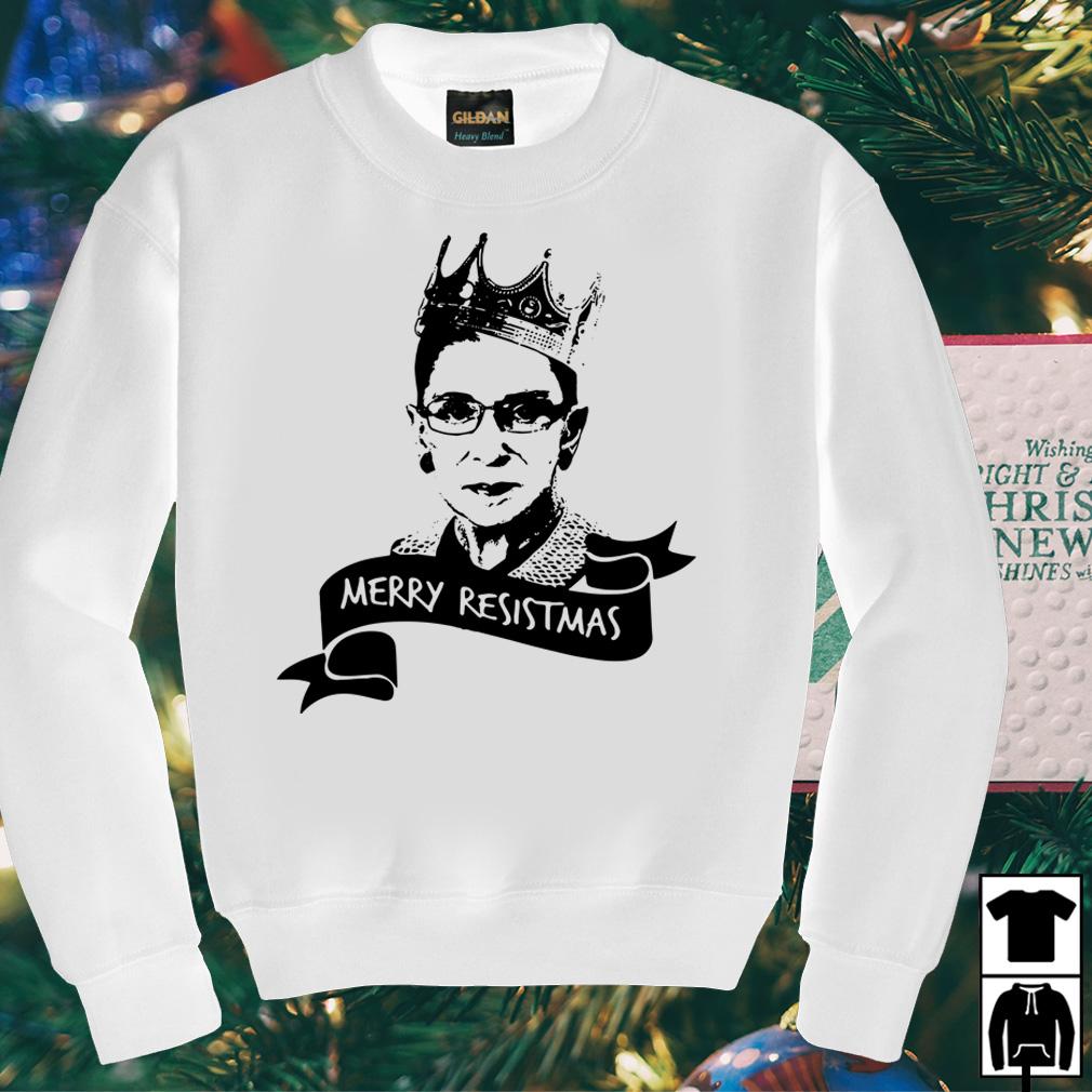 Ruth Bader Ginsburg Merry Resistmas sweater