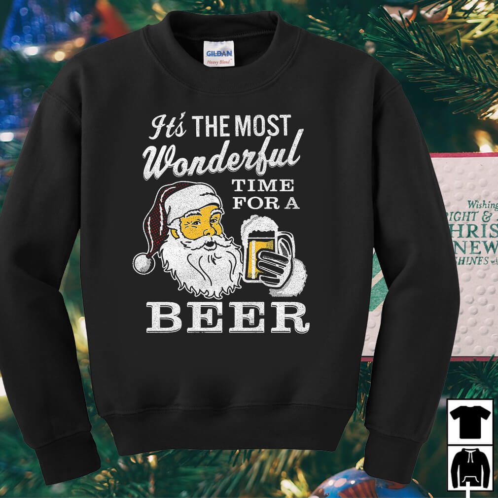 Santa Claus it's the most wonderful time for a beer sweater