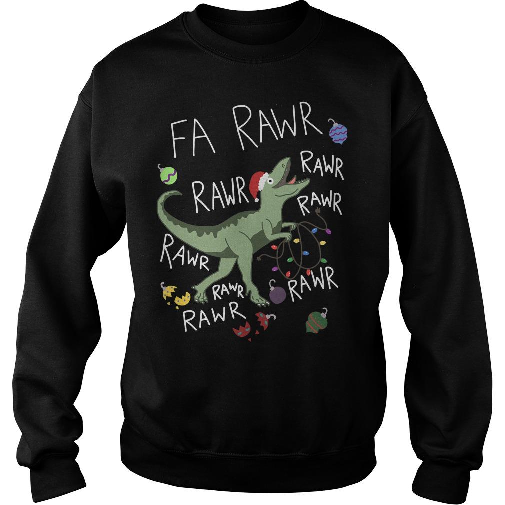 Santa Dinosaur T-Rex Fa rawr rawr rawr Sweater